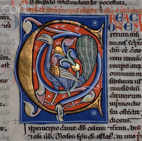 The Illuminated Letter C by Pere Llombard - perhaps lived from the late 11th century to mid 12th century.