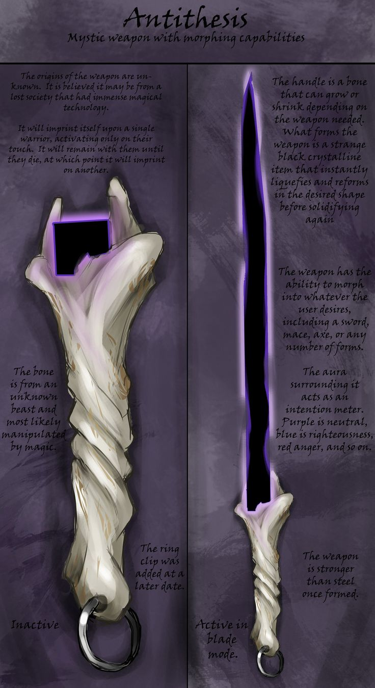 Weapon Design: Antithesis by Sathiest-Emperor