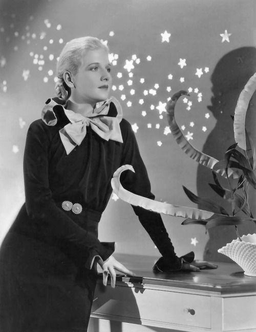 """annhardings: """" Ann Harding wearing a dress by Bernard Newman, designed for The…"""