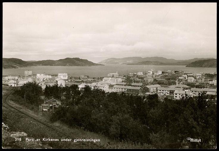 Finnmark kommune Sør-Varanger kommune KIRKENES - Parti under gjenreisningen 1950-tallet  Utg Mittet