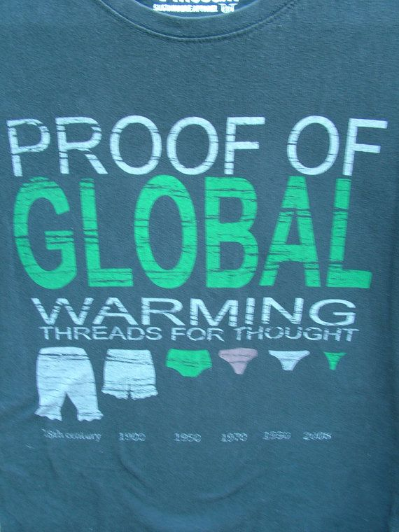 "Funny ""Proof of Global Warming"" Organic Sustainable T-Shirt Sz S FREE DOMESTIC SHIPPING on Etsy, $11.41 CAD"