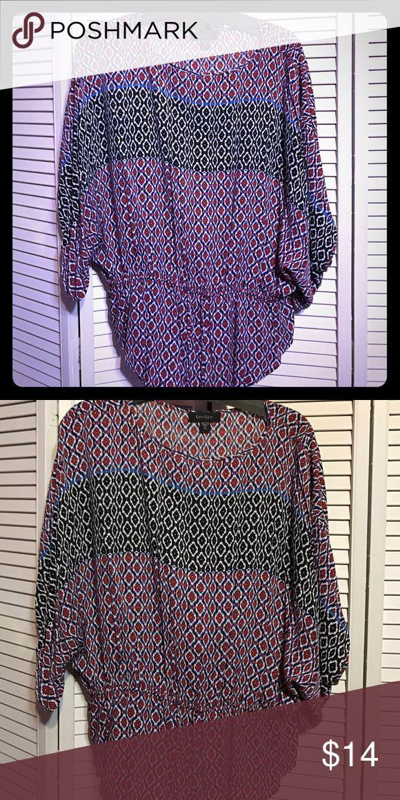 Karen Kane blouse Worn one time Karen Kane flowy top Karen Kane Tops Blouses