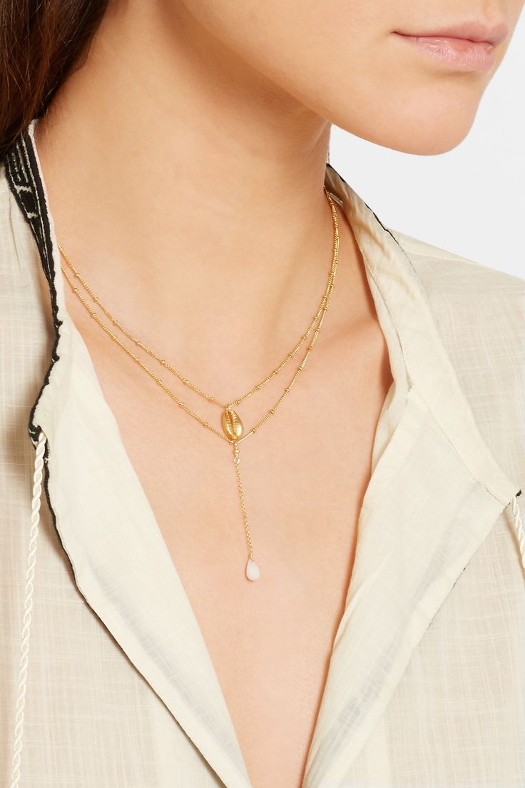 Chan Luu | Gold-plated silverite necklace | NET-A-PORTER.COM