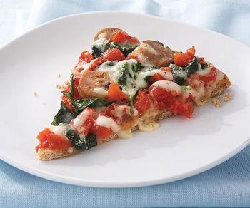 Пицца со шпинатом и моцареллой