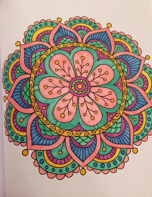 This mandala was taken from the Meditation Coloring Book Available here:   http://thecoloringcove.com/product/meditation-coloring-book-wonderful-images-to-melt-your-worries-away-chartwell-coloring-books/