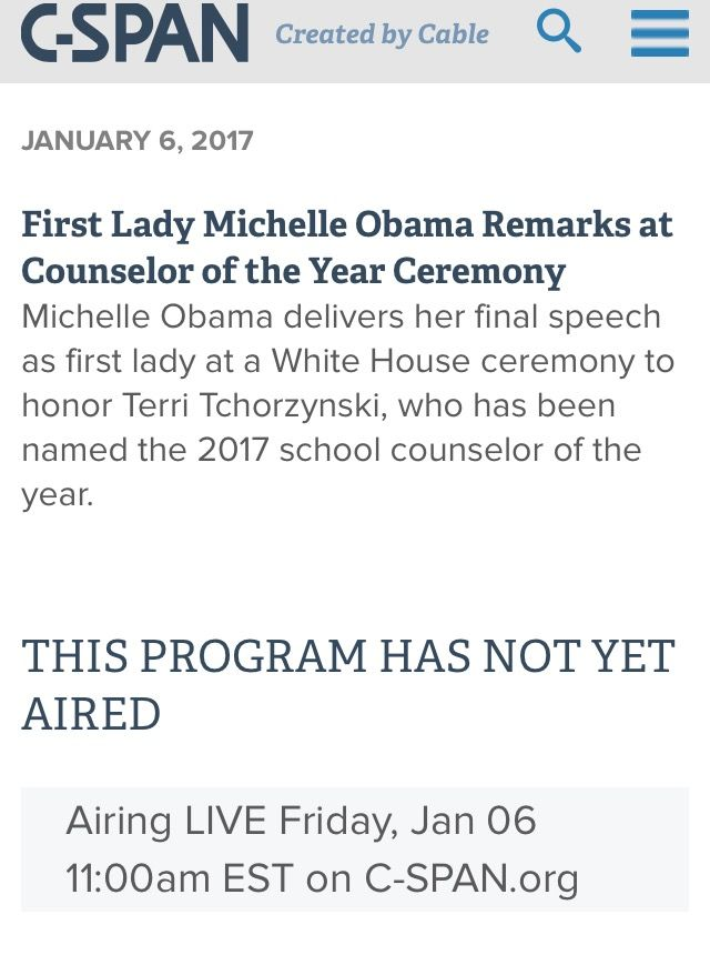 #FINAL #PUBLIC #REMARKS #EVENT AS #FIRSTLADY ON #FRIDAY #JANUARY6th #2017 #WHITEHOUSE  �#FirstLady #FLOTUS Of The United States 🇺🇸 Of America #MichelleObama