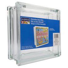 "ArtMinds® Decorative Glass Block, 7.5"" x 7.5"" x 3.1"""