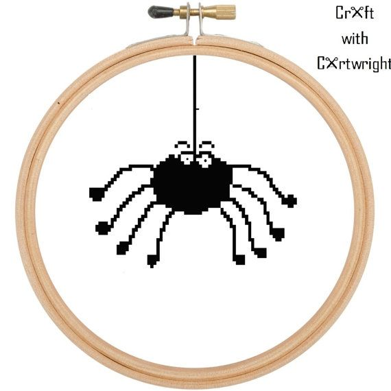 Cross stitch pattern Cartoon Spider £1.80 by CraftwithCartwright on Etsy