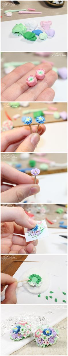 Bouquet of flowers - the process by ~OrionaJewelry on deviantART