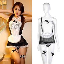 6 pcs Sexy Women Maid Lingerie Costume Cosplay Outfit Fancy Dress G-string Best Seller follow this link http://shopingayo.space