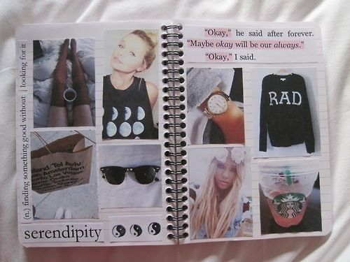 hipster tumblr notebook collage