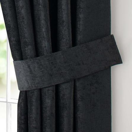 Dunelm Black Curtain Tiebacks