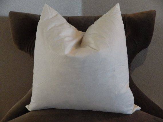 """20 x 20 Feather Pillow Insert - 20 x 20 Feather Pillow Form - 20 x 20 Pillow Form - 20"""" Square Pillow Form on Etsy, $15.00"""