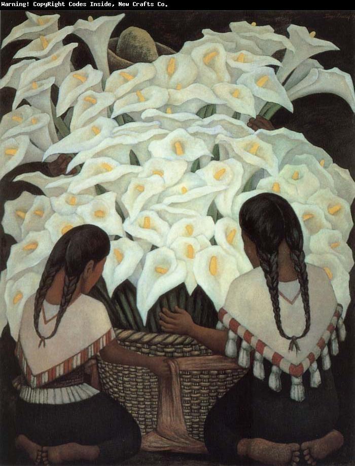 Flowers Diego Rivera