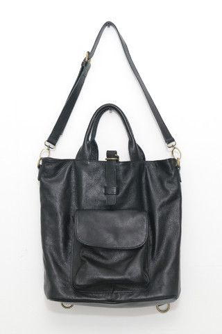 Textured Leather Multi Bag Black - THE WHITEPEPPER