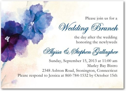 Day After Wedding Brunch Invitation: 21 Best Wedding Brunch Invite Images On Pinterest