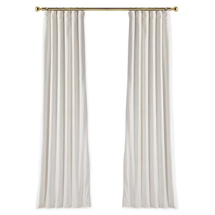 Custom Velvet Blackout Curtain Off White Neutral Curtains