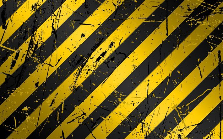 Download Wallpapers 4k Yellow And Black Lines Grunge Art Caution Stripes Creative Caution Lines Qhd Wallpaper Black And White Graffiti Yellow Wallpaper