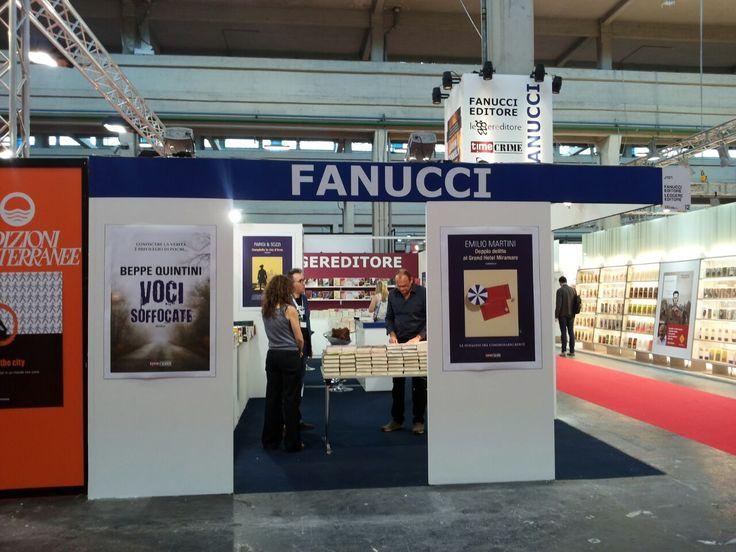 Lo stand del Gruppo Editoriale Fanucci (J101 - Pad. 2) al Salone Internazionale del Libro di Torino #SalTo15