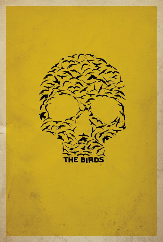 Alfred Hitchcock's The Birds minimalist movie poster
