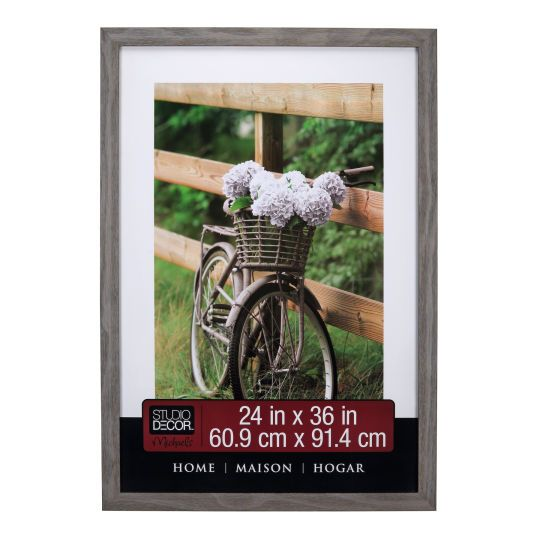 <div>Display a cherished photograph or poster in this wall frame. The lightly distressed frame l...