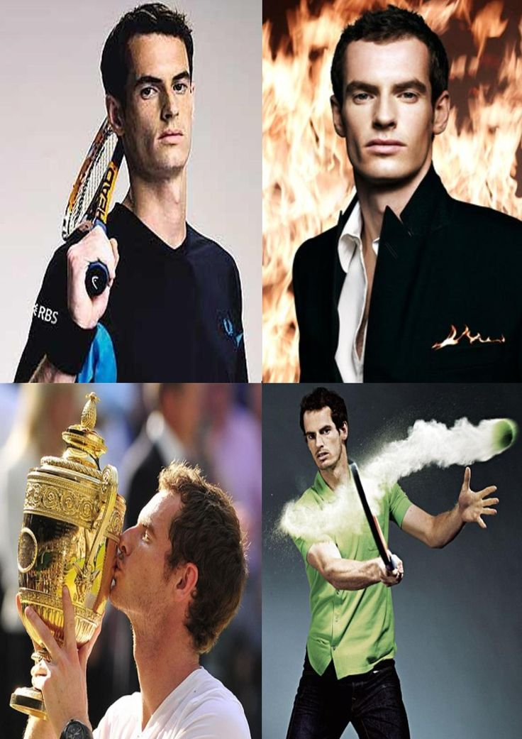 Andy Murray OBE ~ Born Andrew Barron Murray 15 May 1987 (age 28) in Glasgow, Scotland, UK.  Scottish professional tennis player, ranked world No. 3. He started playing tennis at the age of three, entered his first competitive tournament at age five and was playing league tennis by the time he was eight. He is known to be one of the most consistently good players on the tour