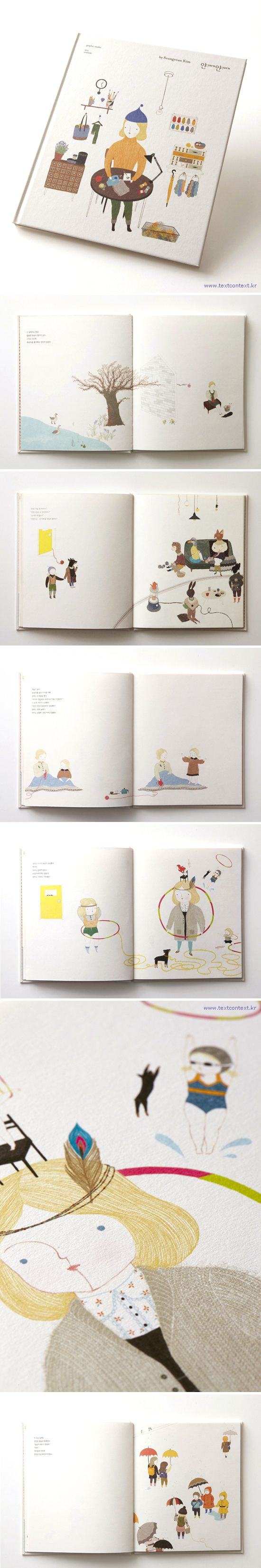 yarnyarn_ picture book by Seungyoun Kim, via Behance