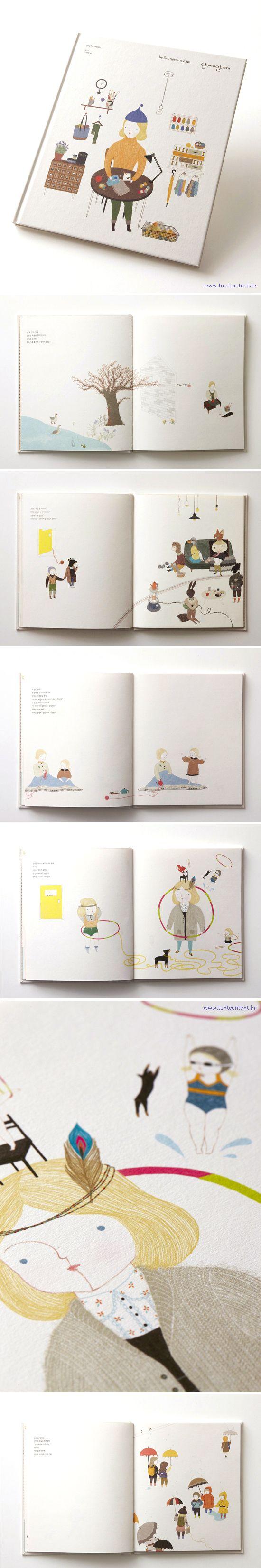 yarnyarn_ picture book by Seungyoun Kim, via Behance