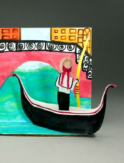Find out about the fascinating town of Venice, Italy, then create your own gondola and gondolier.