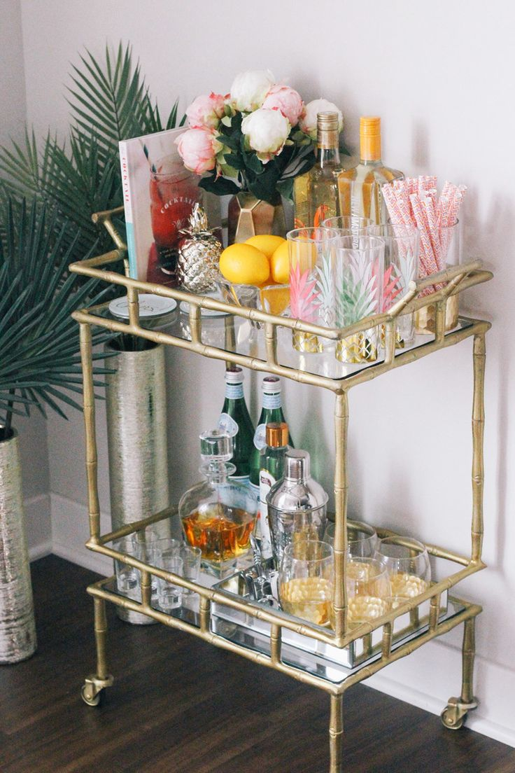 A loaded bar cart is a must for summer!