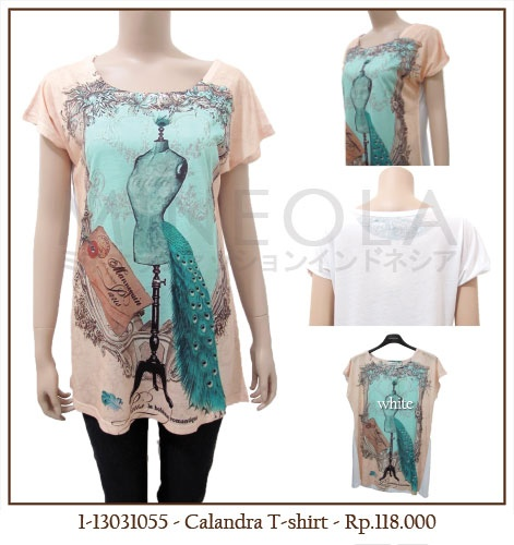 #MINEOLA Calandra T-Shirt White. One color only. Get this for only Rp.118.000,-   Fabrics: cotton polyester Product code: 1-13031055 Bust: 102cm - Length: 71cm