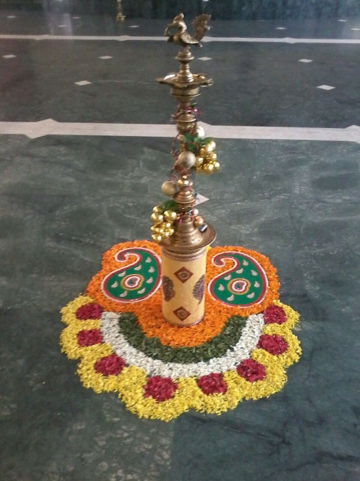 Pin by preethi Reddy on Flower rangoli in 2019 Easy