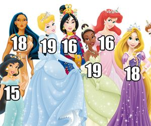 Wait, the Disney Princesses Are HOW Old?! | Princess ages ...