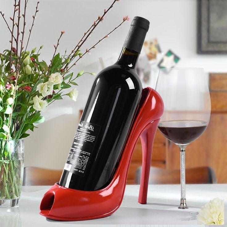 4 colores Zapatos De Tacón Alto Vino Titular de la Botella de Vino de Rack Bastidores de Vino Escultura Práctica Accesorios de Decoración Del Hogar de calidad superior en Estanerías de Vino de Hogar y Jardín en AliExpress.com   Alibaba Group