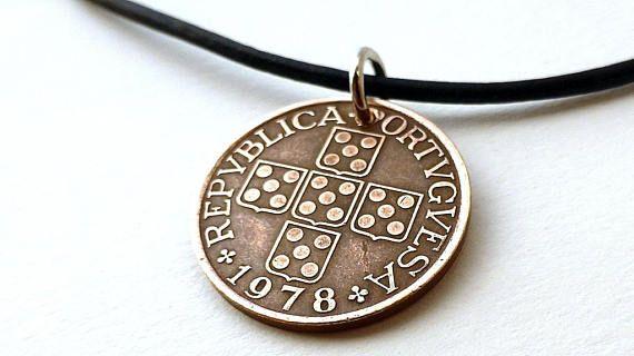 Portuguese Coin necklace Vintage necklace Coins Christian
