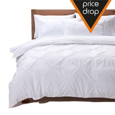 Image for King Bed 'Angelina' Embellished Quilt Cover Set from Kmart