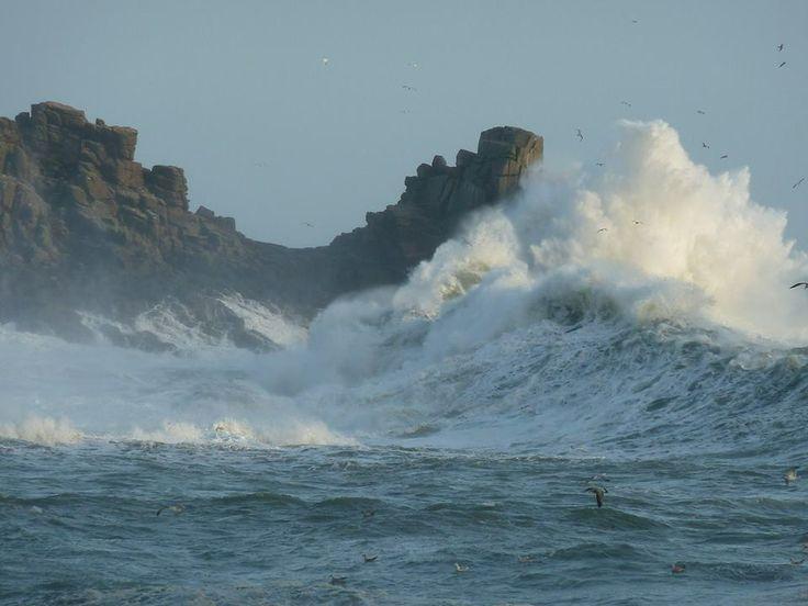 Raging seas at Lamorna Cove, Cornwall. 5/2/2014
