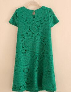 Summer Dress A-line Short Sleeve Novelty Lace Dresses