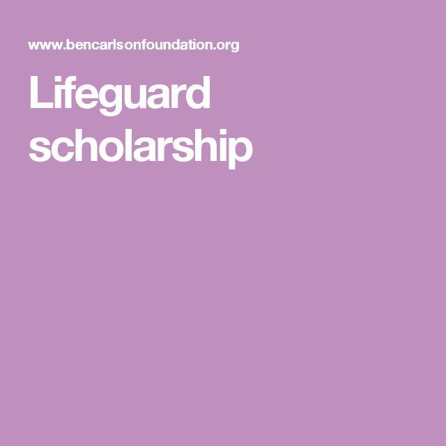 Lifeguard scholarship