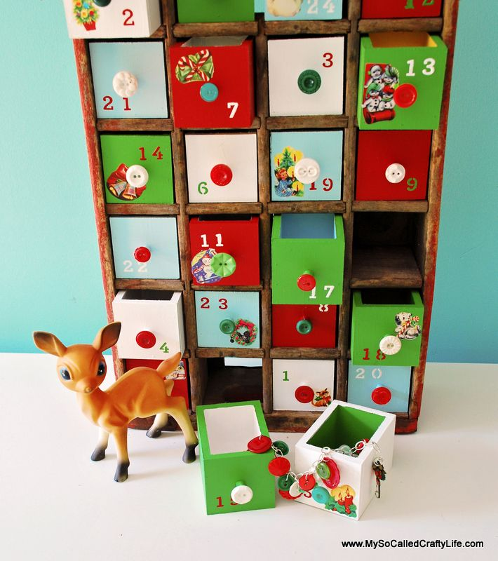 Hi everybody! Welcome to day six of my 12 Days of Christmas crafting. Today I have an extra special advent calendar to share with you all! I am going to show you how to make an advent calendar with a vintage coke crate. This advent was a lot of work, but I think the end … … Continue reading →