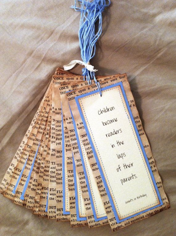 Vintage Bookmarks  Party Favors Baby Shower, Bookpage Personalized bridal shower, wedding, gift