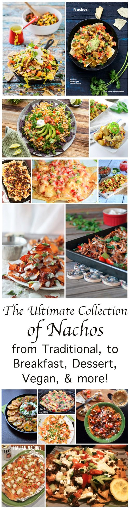 Nachos! The Ultimate Collection of the best recipes around the internet!  Celebrate Cinco de Mayo the right way! A collection of fabulous dishes, from breakfast to dessert, some international, and vegan ones.