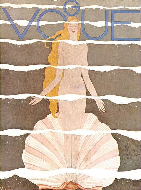 A collection of vintage Vogue covers - July 1931 by _missmoss_, via Flickr