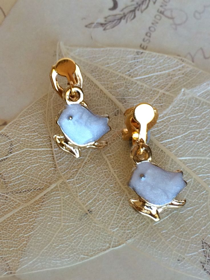 New arrivals just in Gold Plated petite white birds only $14.95 Shop Now @ Clip-it