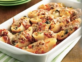 Cheese- and Vegetable-Stuffed Shells Recipe from Betty Crocker: Mail, Yummy Food, Veggie Stuffed, Recipes, Vegetables, Cheese, Vegetable Stuffed Shells, Healthy Food
