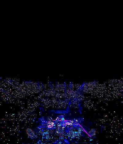 Awesome view of a Coldplay concert