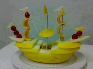 bateau pirate en melon d'espagne et fruits frais - Blog de ImagesIdees32 - Skyrock.com