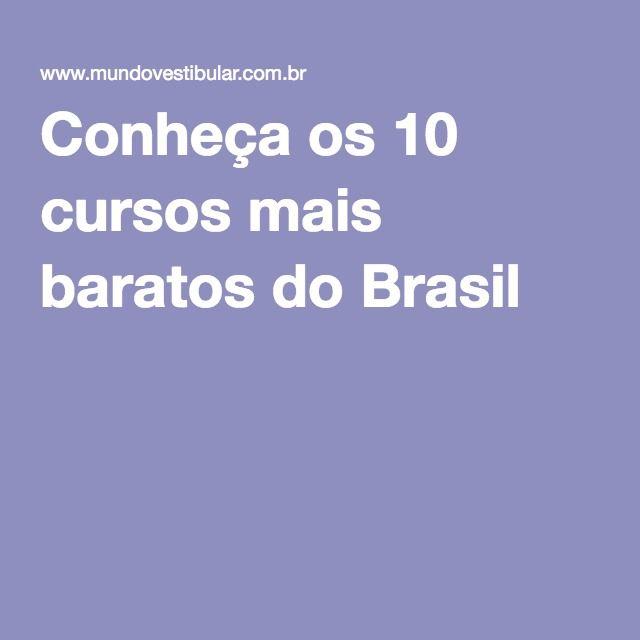 Ensino superior reconhecido pelo Mec a distancia  Conheça os 10 cursos mais baratos do Brasil
