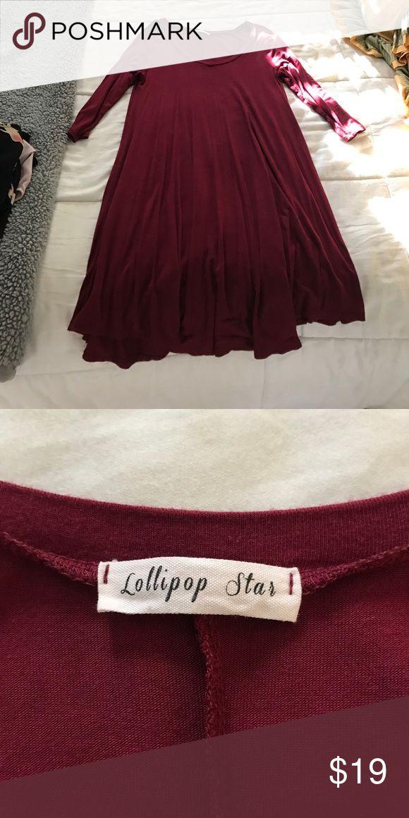 Garnet dress Garnet dress NEVER WORN!!! lollipop star Dresses