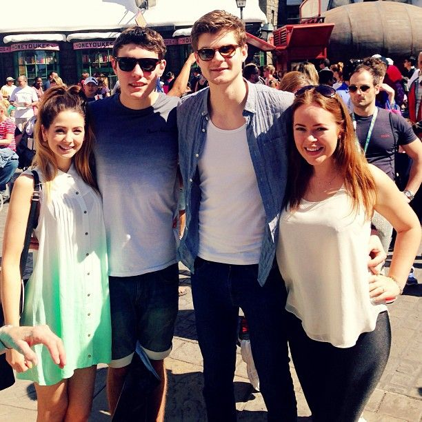 Zoe, Alfie, Jim and Tanya at The Wizarding World of Harry Potter. omg it's like a double date.